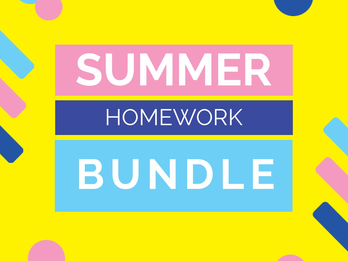 Summer Homework Bundle