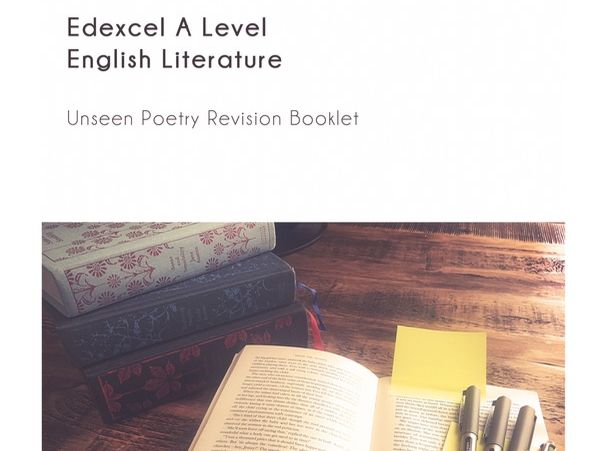 Edexcel A level Unseen Poetry booklet