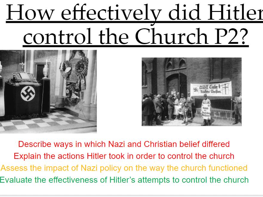 REMOTE Nazi control over the Church