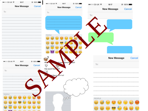 iMessage templates for creative writing