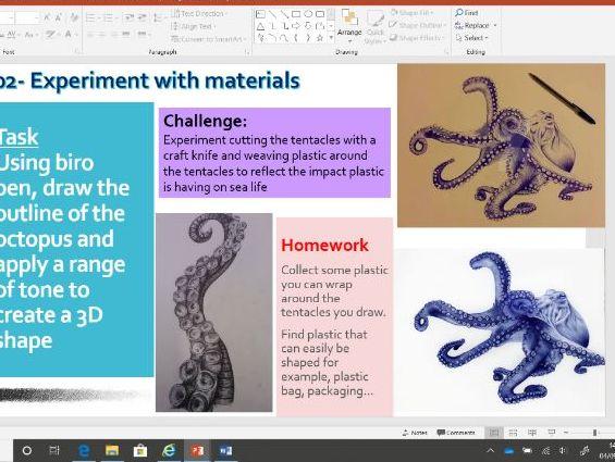 SEALIFE Art GCSE Project 1 TERM