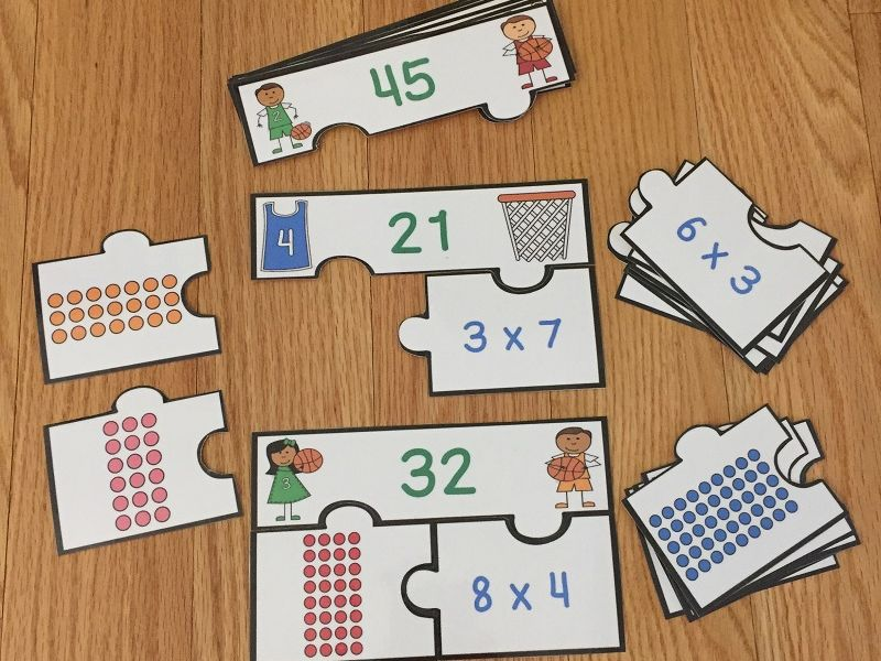 FREE Multiplication Arrays Game Puzzles Array Multiplication Game 3rd Grade Math 3.OA.1