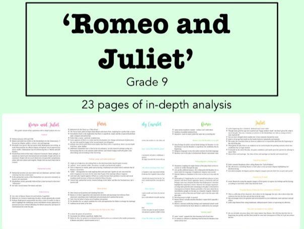 GCSE Romeo and Juliet Notes - Grade 9
