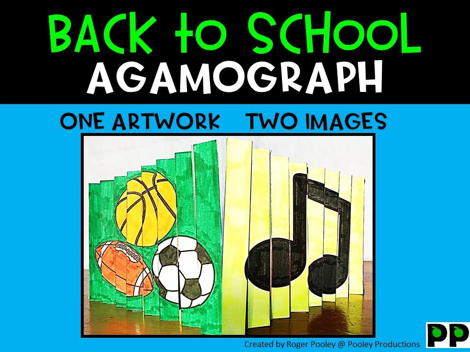 Back to School Agamograph Art Activity