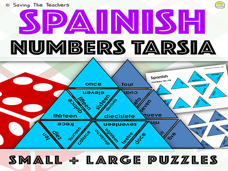 Numbers in Spanish Tarsia Puzzles