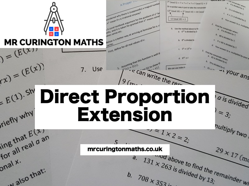 Direct Proportion Extension