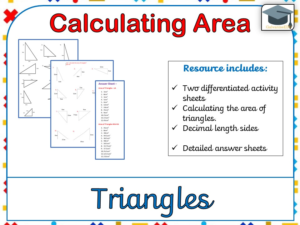 Calculate The Area Of Quadrilaterals Including Answers Worksheet