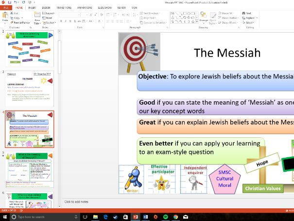 Eduqas: Study of Judaism: The Messiah / Mashiach: Whole Lesson