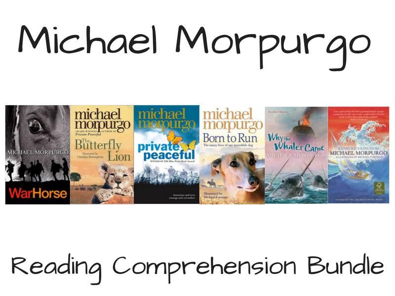 Michael Morpurgo Reading Comprehension Bundle