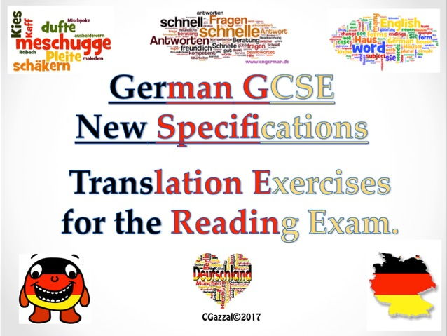 German GCSE New Specifications Translation Exercises.