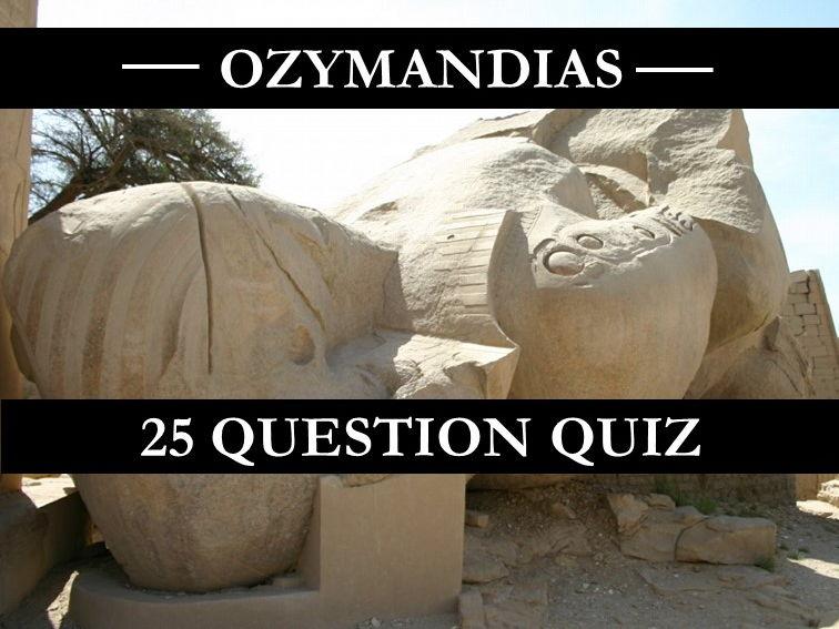 Ozymandias Quiz