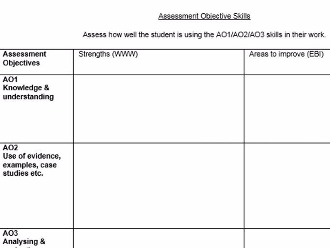 Peer/Self-Assessment Sheet
