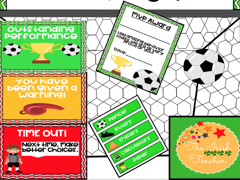 Football Themed Classroom Displays