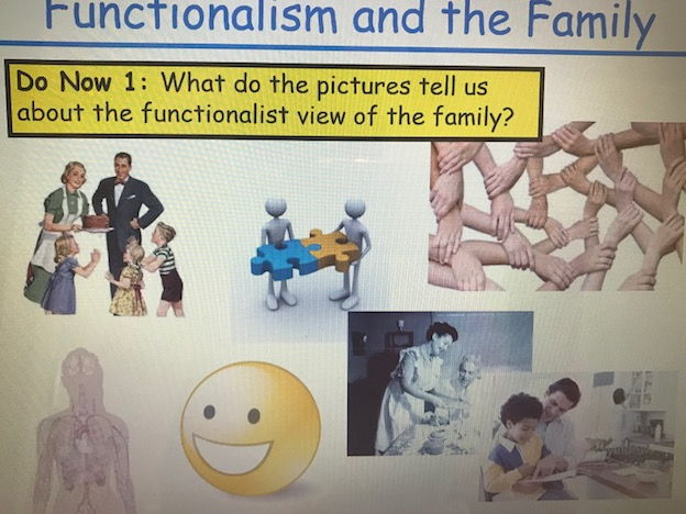 Year 13 Sociology Family Revision - Functionalism
