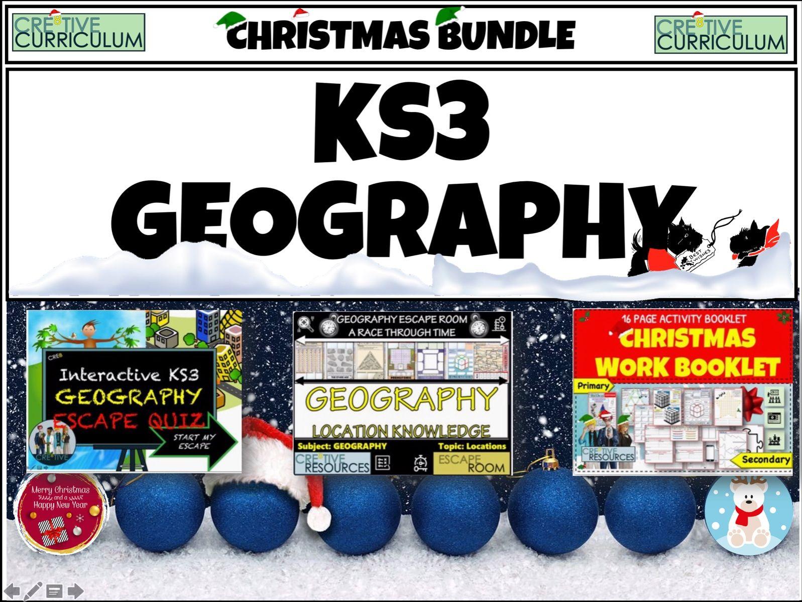 Geography KS3 Christmas Bundle