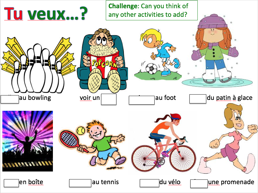 Les sorties: invitations - Expo 2 Module 3 - Differentiated lesson