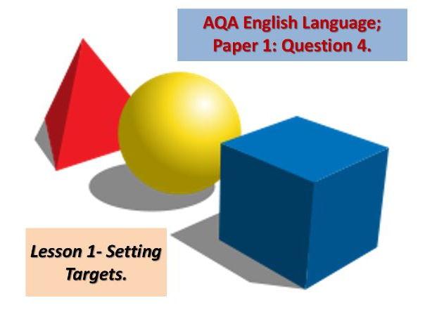 AQA English Language: Paper 1; Question 4.