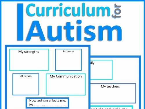 "Autism Awareness & Acceptance ""How Autism Affects Me"" Graphic Organisers"
