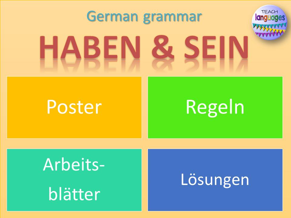 German - Haben und Sein