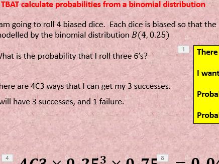 Binomial distribution - GCSE statistics