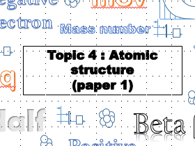 AQA physics GCSE revision booklet atomic structure: topic 4 trilogy