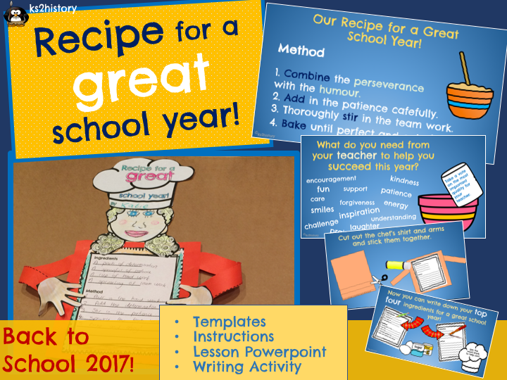 Recipe for a Great School Year - Back to School!