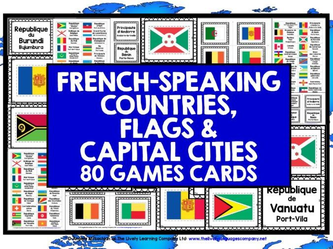FRENCH-SPEAKING COUNTRIES CARDS