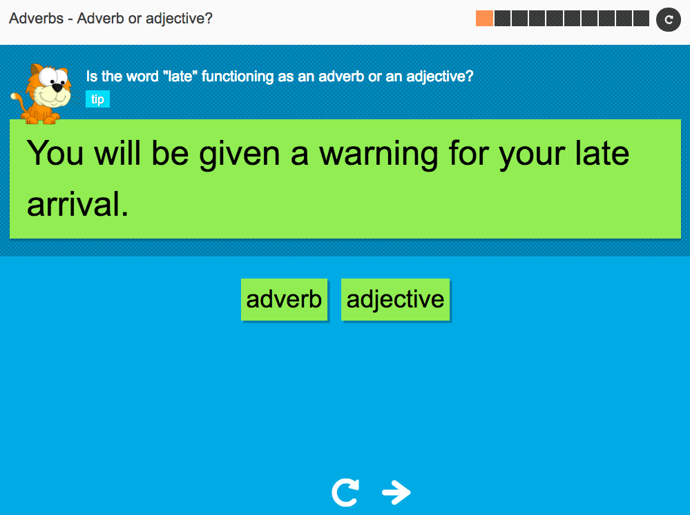 Adverb or adjective? - Interactive Activity - KS3 Spag