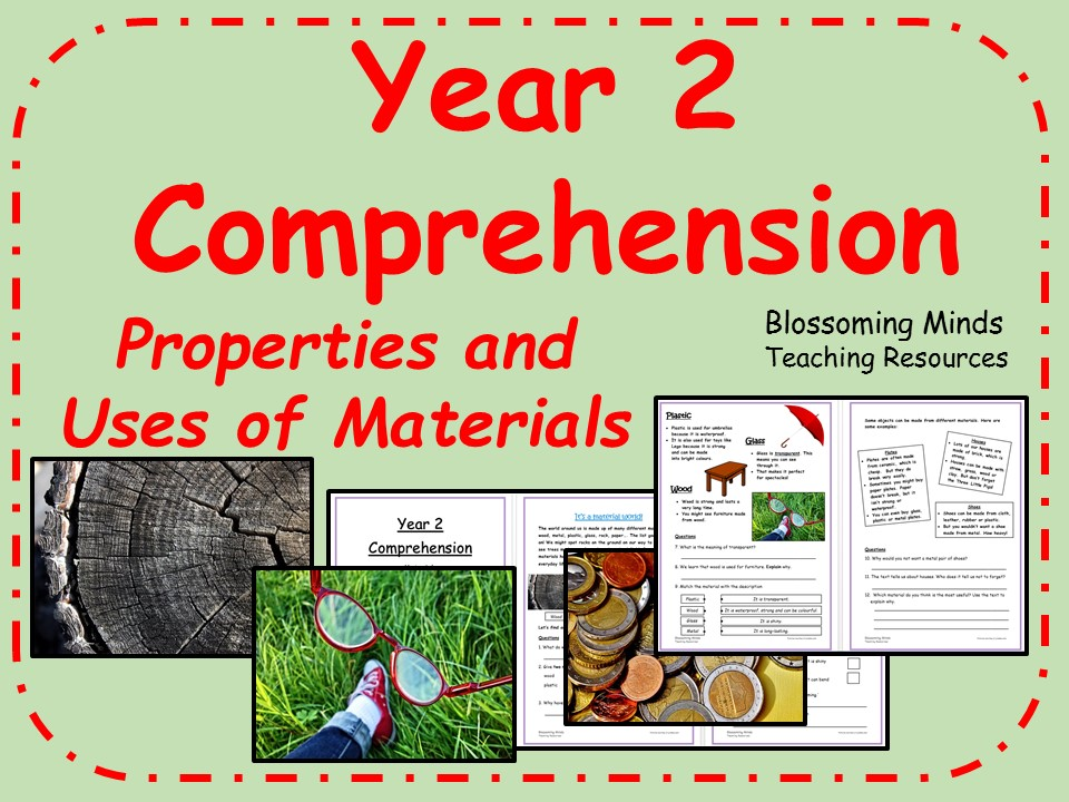 Year 2 SATs style comprehension - Materials (Properties and Uses) - Science