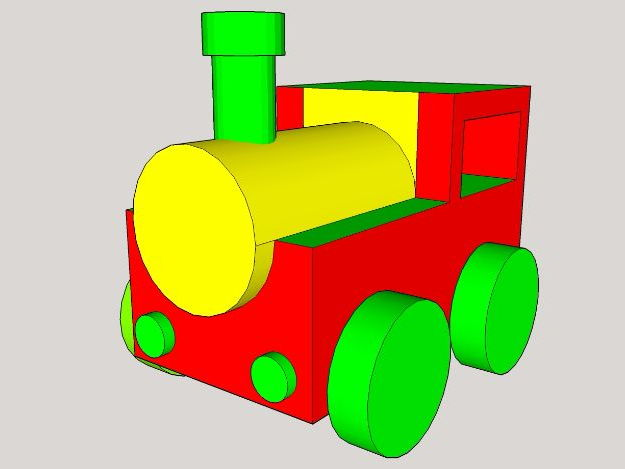 Sketchup Make Basics - Wooden Toy Train