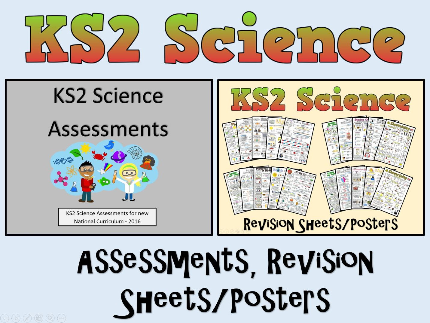 KS2 Science Assessments + Posters/Revision Sheets