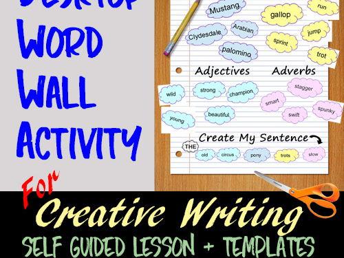 Written Communication: DESKTOP WORD WALL Creative Writing ACTIVITY > Self-Guided