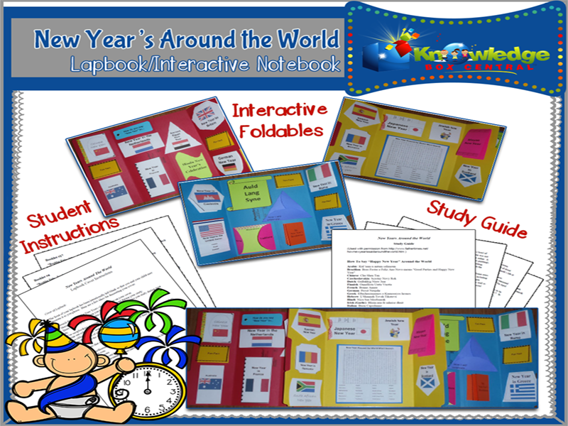 New Years Around the World Lapbook