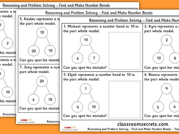Boris the spider rhyming poetry worksheets by franklinwatts year 1 find and make number bonds addition and subtraction wrm reasoning and problem solving ccuart Choice Image