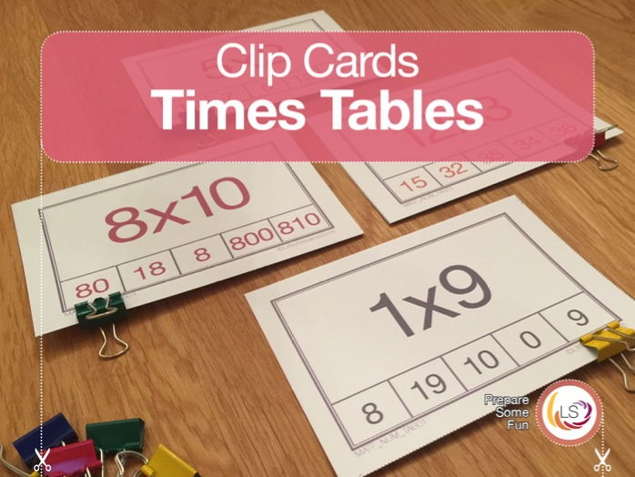 Times Tables | Clip Cards