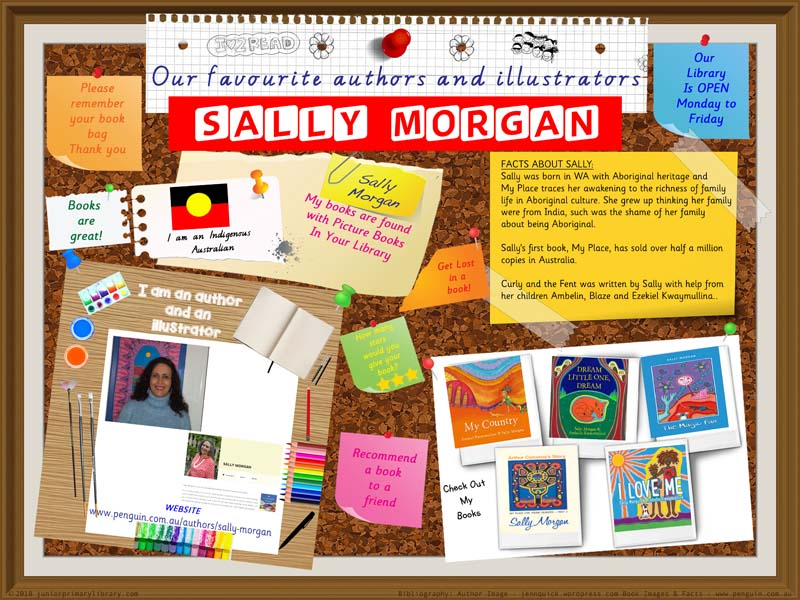 Library Poster - Sally Morgan Indigenous Australian Children's Author