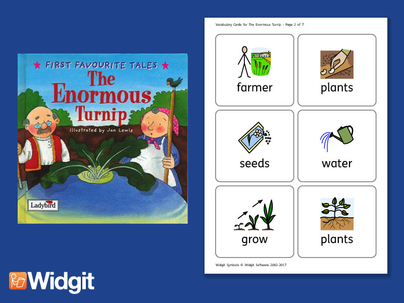The Enormous Turnip - Big Book Flashcards with Widgit Symbols