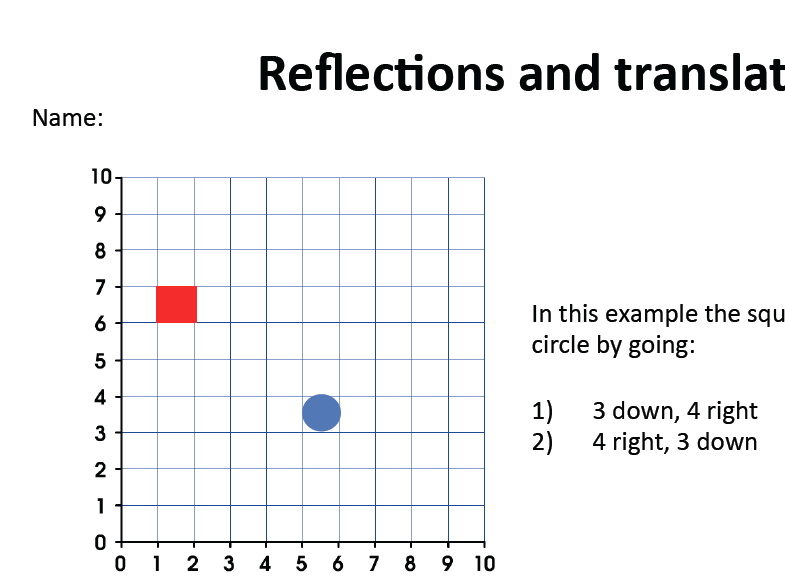 Reflections and Translations assessment