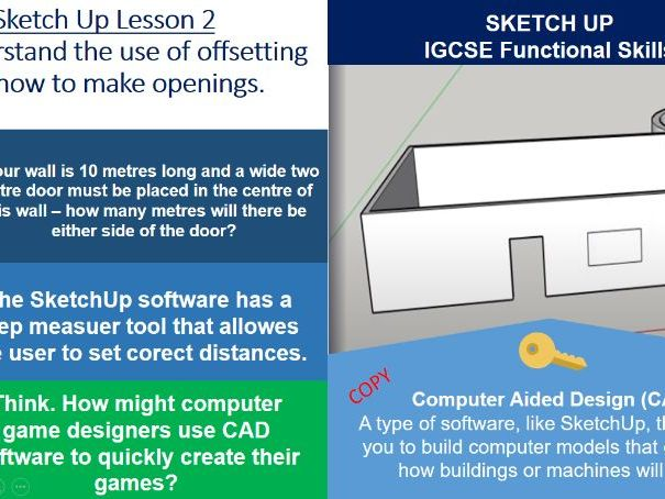 Computer Aided Design - SketchUp Basics - ICT IGCSE - Lesson 2 of 4