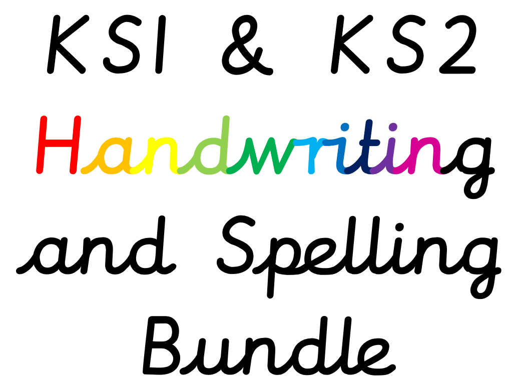 *KS1 and KS2 Handwriting and Spelling Booklet Bundle*