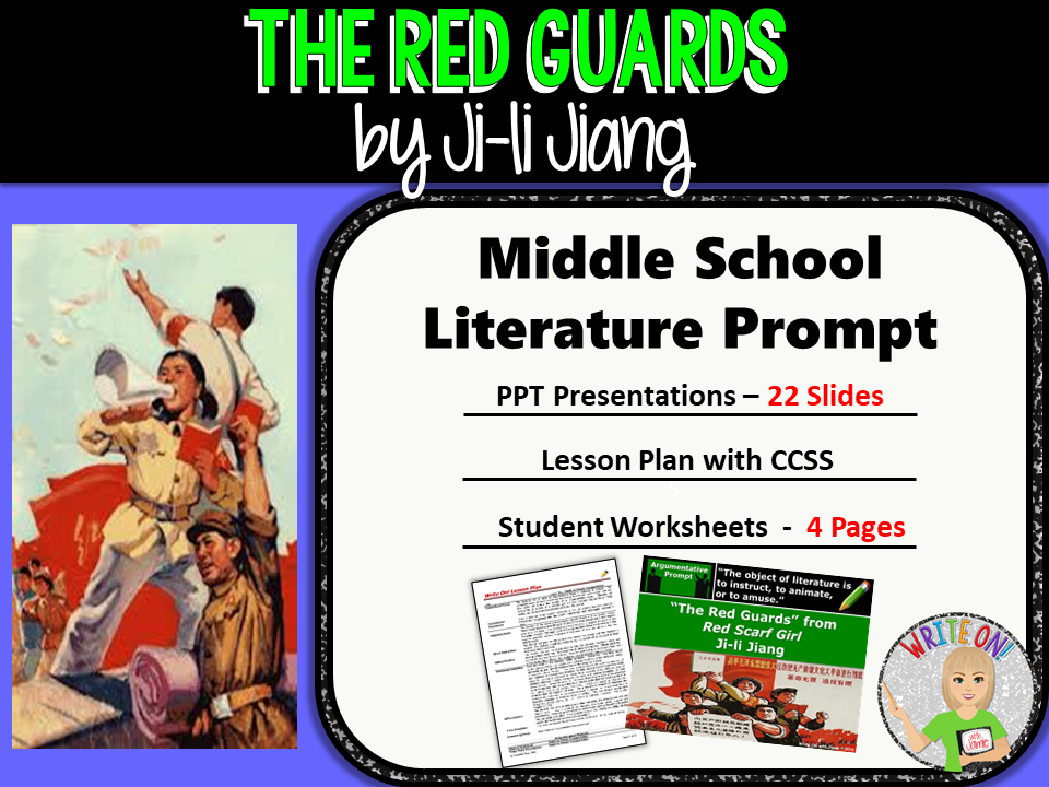 The Red Guards from Red Scarf Girl - Text Dependent Analysis Argumentative Writing