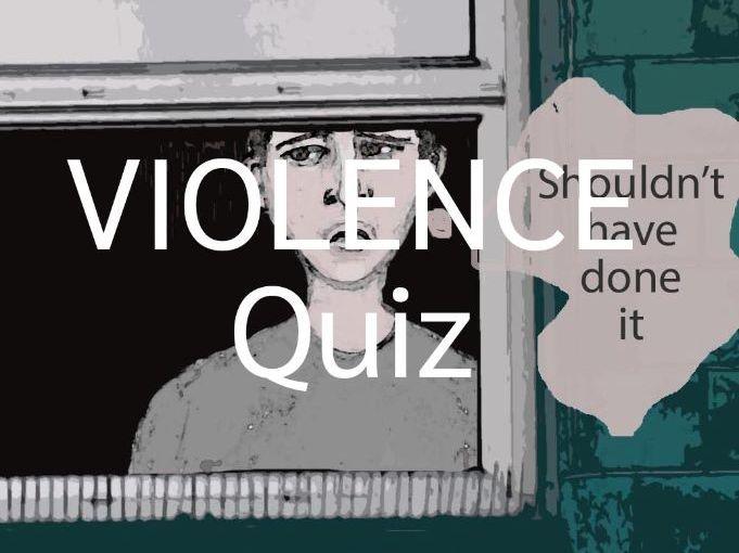 Violence Quiz and Teen Dating Violence Worksheet (US)