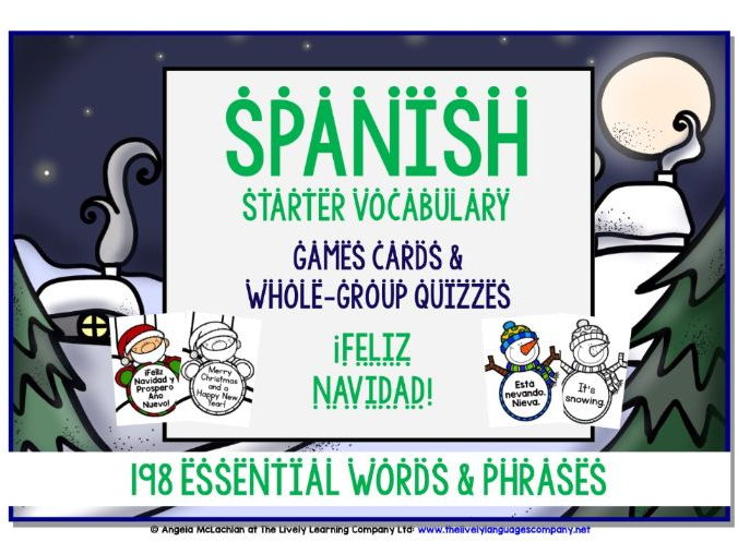 SPANISH CHRISTMAS EDITION GAMES & QUIZZES