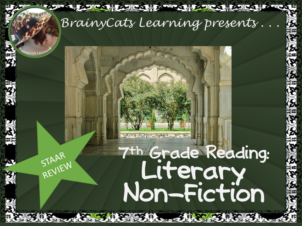 7th Grade STAAR Reading Review: Literary Non-fiction