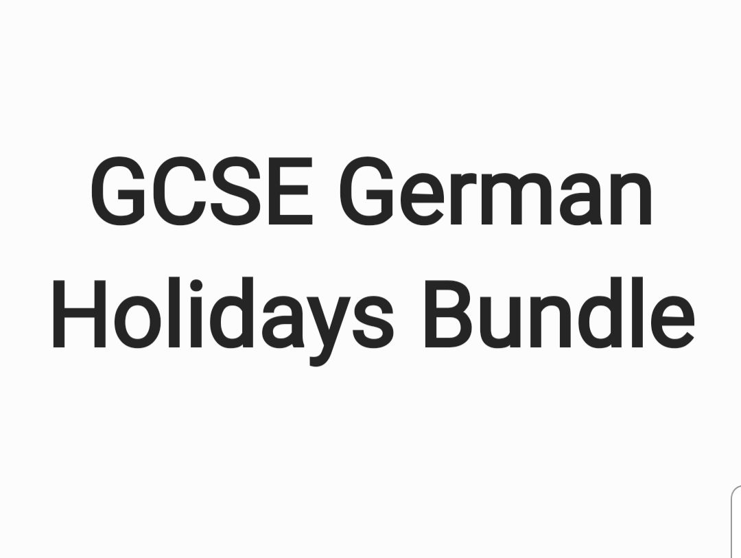 GCSE German Holidays Bundle