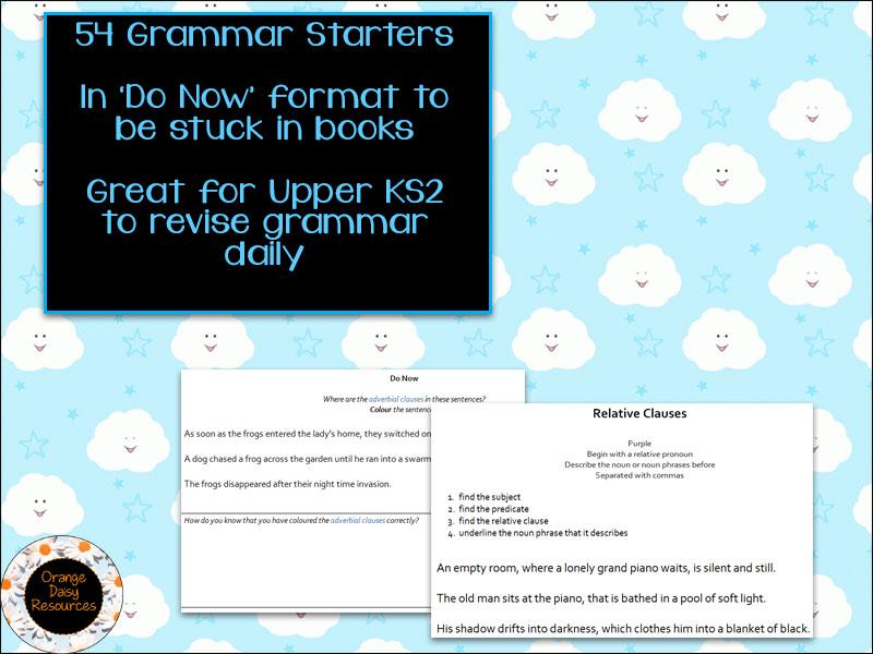 54 Grammar Starters for Y5/6 Revision
