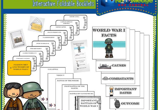 World War I Interactive Foldable Booklets