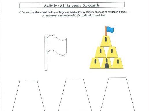 At the Beach - Sandcastle