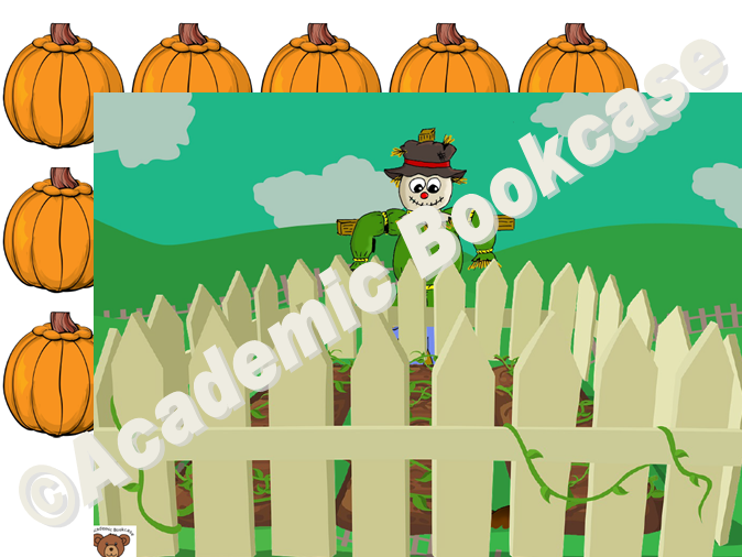 Reward counting chart - scarecrow and pumpkins