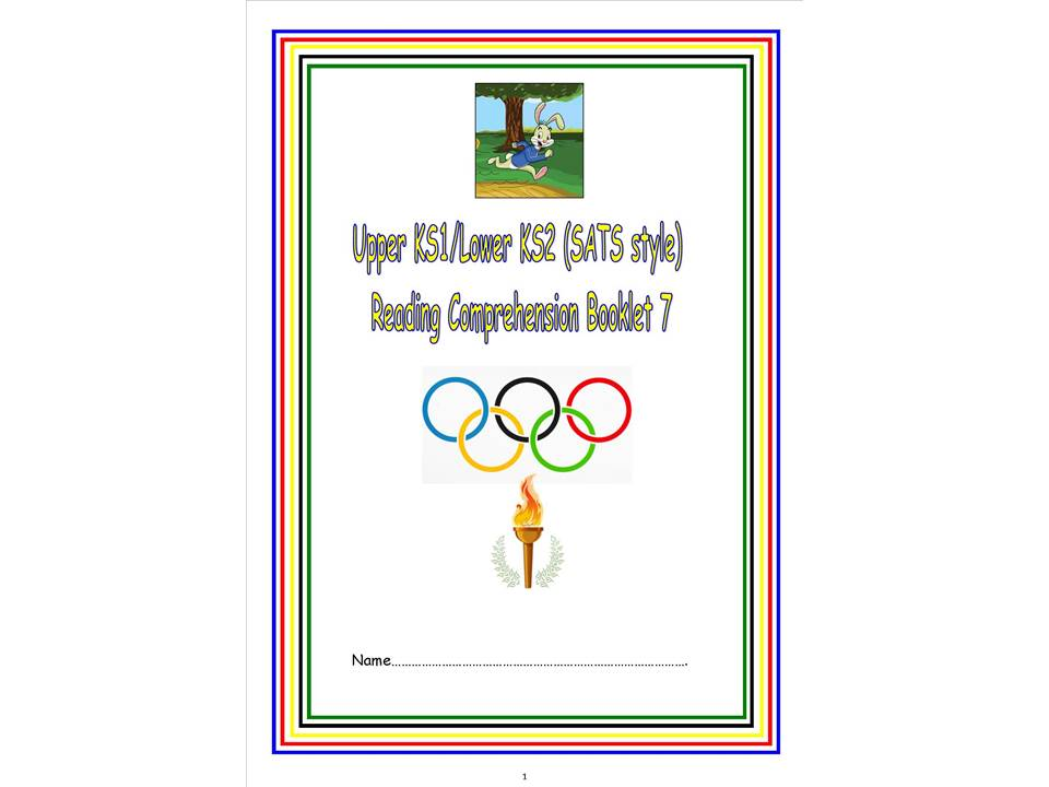 KS1/LKS2 SATs style reading comprehension booklet 7  (Olympic theme)
